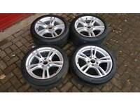 GENUINE BMW 18 INCH NEW STYLE 400M STAGGERED ALLOY WHEELS F30 E90 E92 BMW 3 SERIES 330 M SPORT