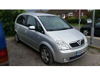 REDUCED FOR QUICK SALE VAUXHALL MERIVA 1.6 PETROL SILVER - GREAT FAMILY CAR!