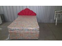 used DOUBLE DIVAN BED WITH MATTRESS AND HEADBOARD can be delivered