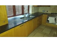 kitchen units, with cooker hob, hood and built in dishwasher