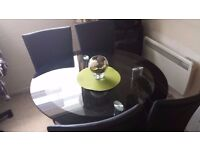 glass dining table ⌀110cm