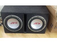 twin alpine subs and amps