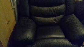 Genuine leather black chair.