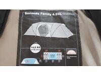 Quechua family 4 man tent. 4.2 XL.