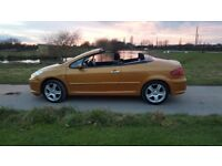 Peugeot 307cc coupe convertible 2.0 16v 140bhp Sport manual | rare Salamanca orange | just 73k miles