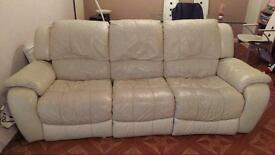 Reclining 3 piece suite. 3 seater, 2 seater and armchair
