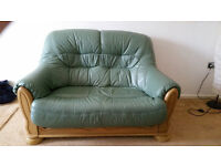 Green sofa and chair