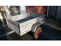 Erde 141 Tipper Trailer with cage