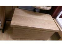 solid planked oak blanket box