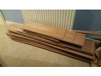 Oak effect laminate flooring - Used but good condition. Approx 11m2