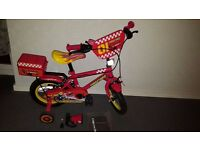 "Apollo Firechief Kids Bike 12"" (like new) with bell and siren(new) - £30"