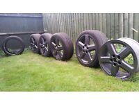 FAST SALE. genuine audi alloy wheels.
