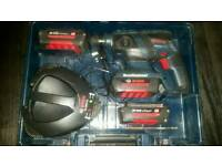 Bosch 36volt sds hammer drill x3 batteries case charger full working order