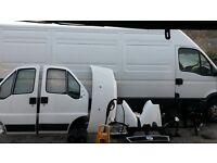02-06 FIAT DUCATO SWB WHITE RELAY BOXER BARN DOOR SLIDING LOADING DOOR BONNET FRONT END HEADLIGHT...