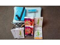 Nintendo Wii Fit Plus & Zumba with Console / Balance Board & Accessories