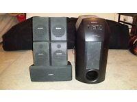 Sony Home Cinema SLV-AV100 UX / SA-W10 Home speaker system (VHS)