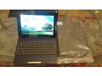 Asus Transformer Pad TF300T with removeable keyboard boxed with new leather cover
