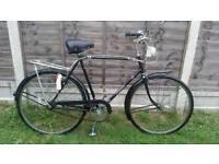 Mens vintage Raleigh 3 speed bike