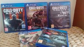PS4 Games in excellent condition- bundle/separate