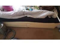 Single divan bed in good condition. Priced for quick sale
