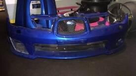 Subaru hawkeye bumper and wings