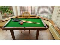 QUALITY SLATE POOL/ DINING TABLE