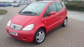 Mercedes A160 2001/51 FSH/9stamps New Cam-Chain £495