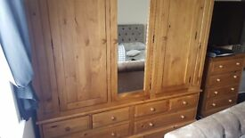 Solid Pine Triple Wardrobes