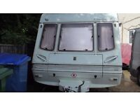 2 birth caravan with movers and awning