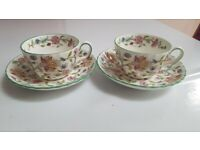 Haddon Hall Tea Cup and Saucer x 2