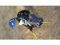 Junior set of golf clubs as new, excellent condition. Child age approx 8 - 10