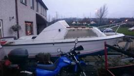 Boat trailer and outboard