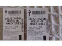 chessington tickets for bank holiday sunday 27/5/2018