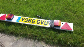 TrailTowing Light Board. 4ft Lighting Fits Cycle Carrier Number Plate.