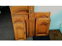 Oak kitchen Doors and Drawer fronts.Used but very High quality and condition.Antique type knobs.