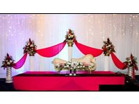 Wedding Reception Venue, Hall, Decoration, dance floor, DJ, Videographer, Photographer, cameraman