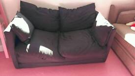 2 SEATER IKEA SMALL FUTON SOFA BED. 6 MONTHS OLD