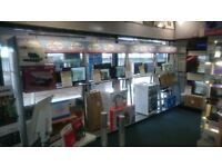 Retail Display Shop Shelving 10 Units - Standalone Freestanding units (With Lights!)