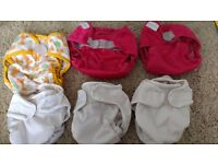 Complete reusable/ washable nappy stash with accessories cost over £350