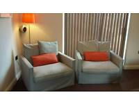 2 x Armchairs + extra brand new cover set