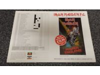 Iron Maiden merchandise sheet for MAIDEN ENGLAND video release. Rare.