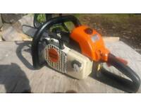 Stihl ms200 chainsaw backhandle ideal for chipper or carving