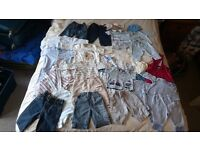 Large bundle (50 pieces ) of baby BOY clothes mostly 0-3 months but also some up to 1 year