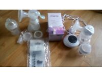Tommee tippee electric breast pump plus nuby manual breast pump and extras