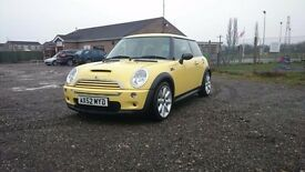 Yellow 2003 Mini cooper s, 1.6 supercharged, Full Service History, Mot, top spec chilli pack