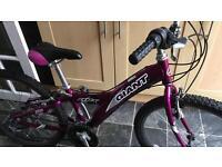 Bike girls giant 18 speed aluminium mountain bike