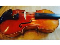 VIOLA 15.5 INCH. + BOW + DOUBLE CASE VL/Viola - GREAT DEAL FOR ADVANCED STUDENTS AND PROFESSIONALS.