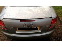 Audi A4 1.8T Sline Convertible Boot Lid