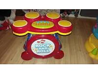 Baby toy bundle blocks piano and drums ( LOOK )