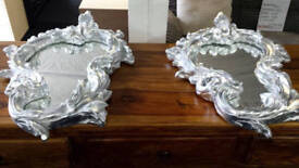 New clearance silver french style fancy mirrors
